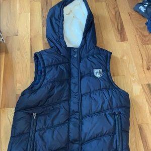 American Eagle Fur Hooded Vest